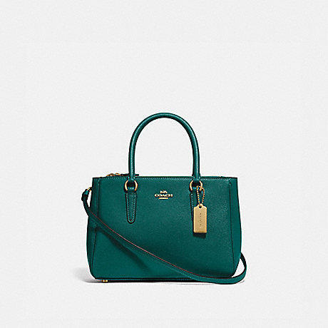 COACH MINI SURREY CARRYALL - IM/VIRIDIAN - F44962