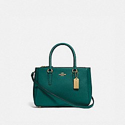 MINI SURREY CARRYALL - IM/VIRIDIAN - COACH F44962