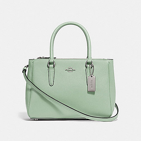 COACH MINI SURREY CARRYALL - PALE GREEN/SILVER - F44962