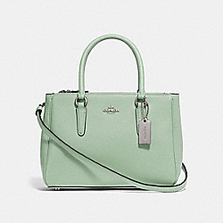 MINI SURREY CARRYALL - PALE GREEN/SILVER - COACH F44962
