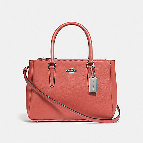 COACH MINI SURREY CARRYALL - CORAL/SILVER - F44962