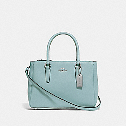 MINI SURREY CARRYALL - SEAFOAM/SILVER - COACH F44962