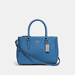 MINI SURREY CARRYALL - SKY BLUE/SILVER - COACH F44962