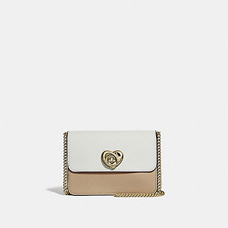 COACH BOWERY CROSSBODY IN COLORBLOCK WITH HEART TURNLOCK - PINK MULTI/IMITATION GOLD - F44963