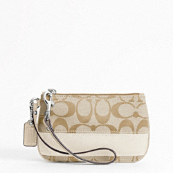 SIGNATURE STRIPE SMALL WRISTLET
