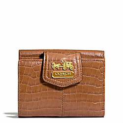 COACH MADISON EMBOSSED CROC FRENCH PURSE - ONE COLOR - F45921