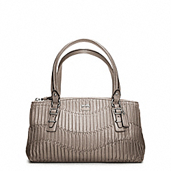 MADISON GATHERED LEATHER SMALL BAG - SILVER/CHAMPAGNE - COACH F45928