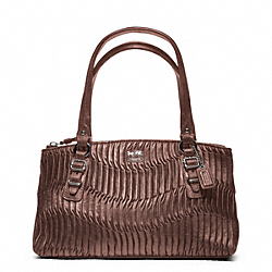 MADISON GATHERED LEATHER SMALL BAG - SILVER/BRONZE - COACH F45928
