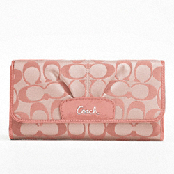 ASHLEY SIGNATURE SATEEN CHECKBOOK WALLET