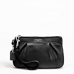 LEATHER PLEATED MEDIUM WRISTLET
