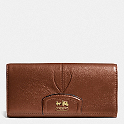 COACH MADISON LEATHER SLIM ENVELOPE WALLET - BRASS/ACORN - F46611