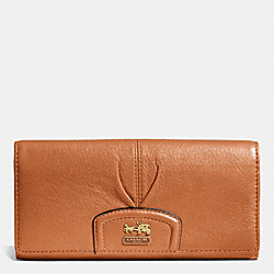 COACH MADISON LEATHER SLIM ENVELOPE WALLET - BRASS/SADDLE - F46611