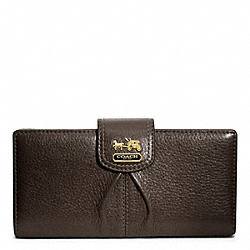 COACH MADISON LEATHER SKINNY WALLET - ONE COLOR - F46612