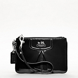 COACH MADISON PATENT SMALL WRISTLET - SILVER/BLACK - F46621