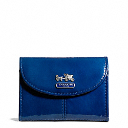 COACH MADISON PATENT FLAP CARD CASE - ONE COLOR - F46622