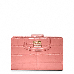 COACH MADISON EMBOSSED CROC MEDIUM ZIP WALLET - ONE COLOR - F46633