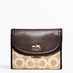 COACH MADISON OP ART SATEEN MEDIUM WALLET - ONE COLOR - F46643