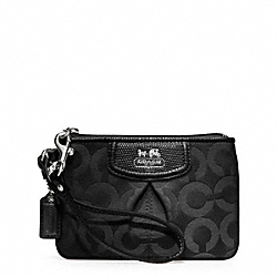 COACH MADISON OP ART SATEEN SMALL WRISTLET - ONE COLOR - F46645