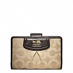 COACH MADISON OP ART SATEEN MEDIUM ZIP WALLET - ONE COLOR - F46646