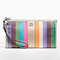 COACH JULIA LEGACY STRIPE ZIPPY WALLET - ONE COLOR - F46807