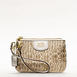 COACH MADISON SMALL WRISTLET IN GATHERED SIGNATURE JACQUARD - BRASS/LIGHT KHAKI/PARCHMENT - F46901