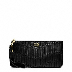 COACH F46914 - MADISON GATHERED LEATHER ZIP CLUTCH ONE-COLOR