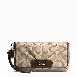 SIGNATURE SATEEN LARGE FLAP WRISTLET