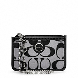 COACH POPPY SIGNATURE SATEEN METALLIC ID SKINNY - ONE COLOR - F47029