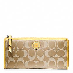 COACH POPPY SIGNATURE SATEEN SLIM ZIP - ONE COLOR - F47039