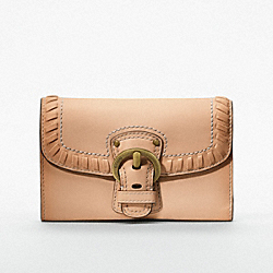 COACH POPPY LEATHER WHIP STITCH MEDIUM WALLET - ONE COLOR - F47042