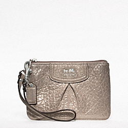 COACH MADISON EMBOSSED METALLIC LEATHER SMALL WRISTLET - ONE COLOR - F47191