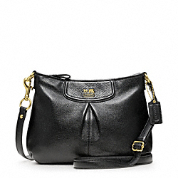 COACH MADISON LEATHER FASHION SWINGPACK - BRASS/BLACK - F47261
