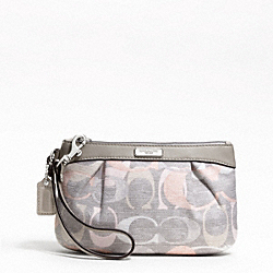 OPTIC LINEN PLEATED MEDIUM WRISTLET
