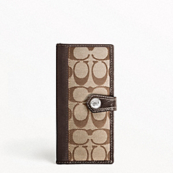 SIGNATURE STRIPE ID WINDOW CARD CASE