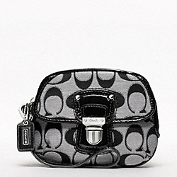 POPPY SIGNATURE SATEEN METALLIC PUSHLOCK WRISTLET