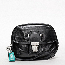 COACH POPPY LEATHER PUSH LOCK WRISTLET - ONE COLOR - F47605