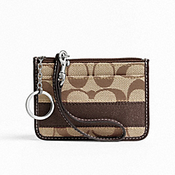 COACH SIGNATURE STRIPE ID SKINNY - ONE COLOR - F47665