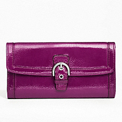 SOHO PATENT BUCKLE SLIM ENVELOPE