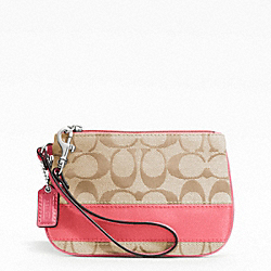 COACH SIGNATURE STRIPE SMALL WRISTLET - ONE COLOR - F47790