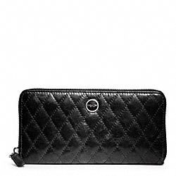 POPPY QUILTED LEATHER ACCORDION ZIP