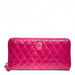 COACH POPPY QUILTED LEATHER ACCORDION ZIP - ONE COLOR - F47885