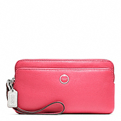 COACH POPPY LEATHER DOUBLE ZIP WALLET - ONE COLOR - F47894