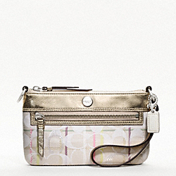 COACH POPPY TATTERSALL LARGE WRISTLET - ONE COLOR - F47912