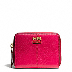 COACH MADISON LEATHER ZIP CARD CASE - ONE COLOR - F47931