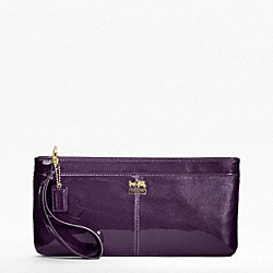 MADISON PATENT ZIP CLUTCH