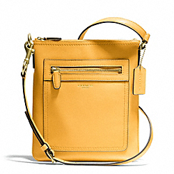 COACH LEATHER SWINGPACK - BRASS/MUSTARD - F47989