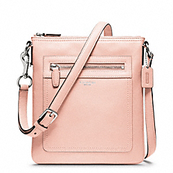 COACH LEATHER SWINGPACK - SILVER/BLUSH - F47989