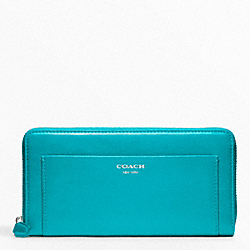 LEATHER ACCORDION ZIP WALLET COACH F47996