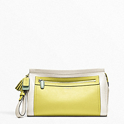 COLORBLOCK LARGE CLUTCH COACH F48002