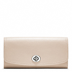 COACH LEATHER SLIM ENVELOPE - ONE COLOR - F48003
